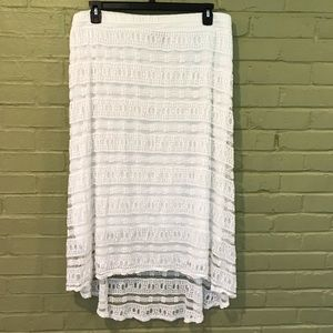 Lacy White Skirt